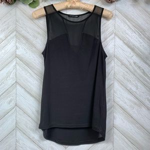 Zara Black Sleeveless Black Top US Small